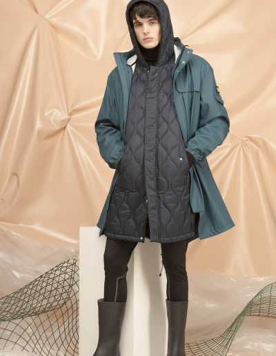 DGM006 MAN RAIN OVER PARKA - DGM221 MAN QUILTED PARKA